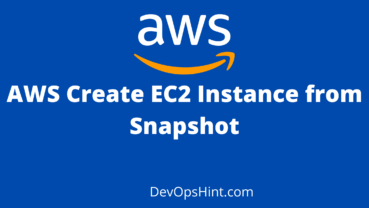 AWS Create EC2 Instance from Snapshot