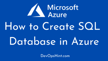 How to Create SQL Database in Azure